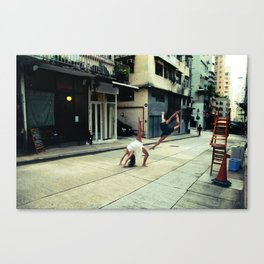 Dancers in Sheung Wan Canvas Print