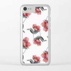 Summer Flowers V Clear iPhone Case