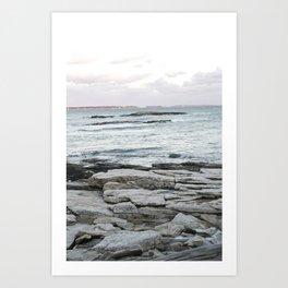 Frozen Maine Ocean Art Print
