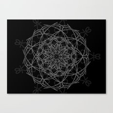 mandala in black Canvas Print