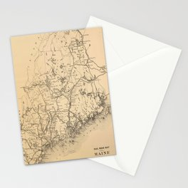 Vintage Map of Maine (1894) Stationery Cards