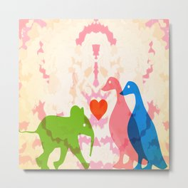 Family (Pink and Blue) Metal Print