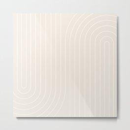 Minimal Line Curvature XI Metal Print