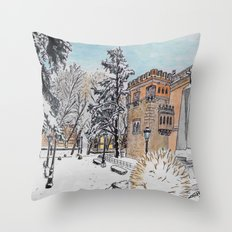 Spanish Palace Throw Pillow
