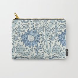 William Morris Beautiful floral pattern, blue,rose,william Morris pattern, art nouveau pattern Carry-All Pouch