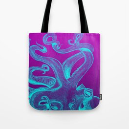 Teal & Purple Octopus Tote Bag