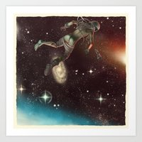Bodies in Space: Cyanosis Art Print