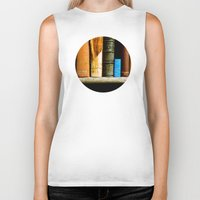 books Biker Tanks featuring Books  by Loaded Light Photography