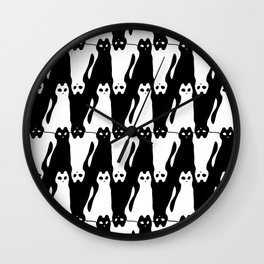Meowstooth Wall Clock