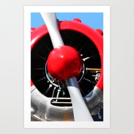 Red Plane II Art Print