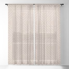 Angled Nude Sheer Curtain