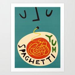 Yum Spaghetti Kunstdrucke