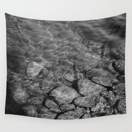 Under Water (Black and White) Wall Tapestry