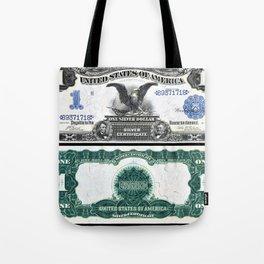Vintage 1899 Eagle US $1 Dollar Bill Silver Certificate Wall Art Tote Bag