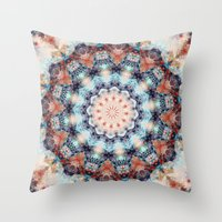 kaleidoscope Throw Pillows featuring kaleidoscope  by North 10 Creations