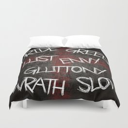 Seven deadly sins Duvet Cover