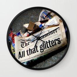 All That Glittered Wall Clock