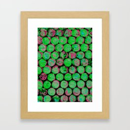 Green and Pink Gumballs Framed Art Print