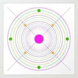 Clock canevas Art Print