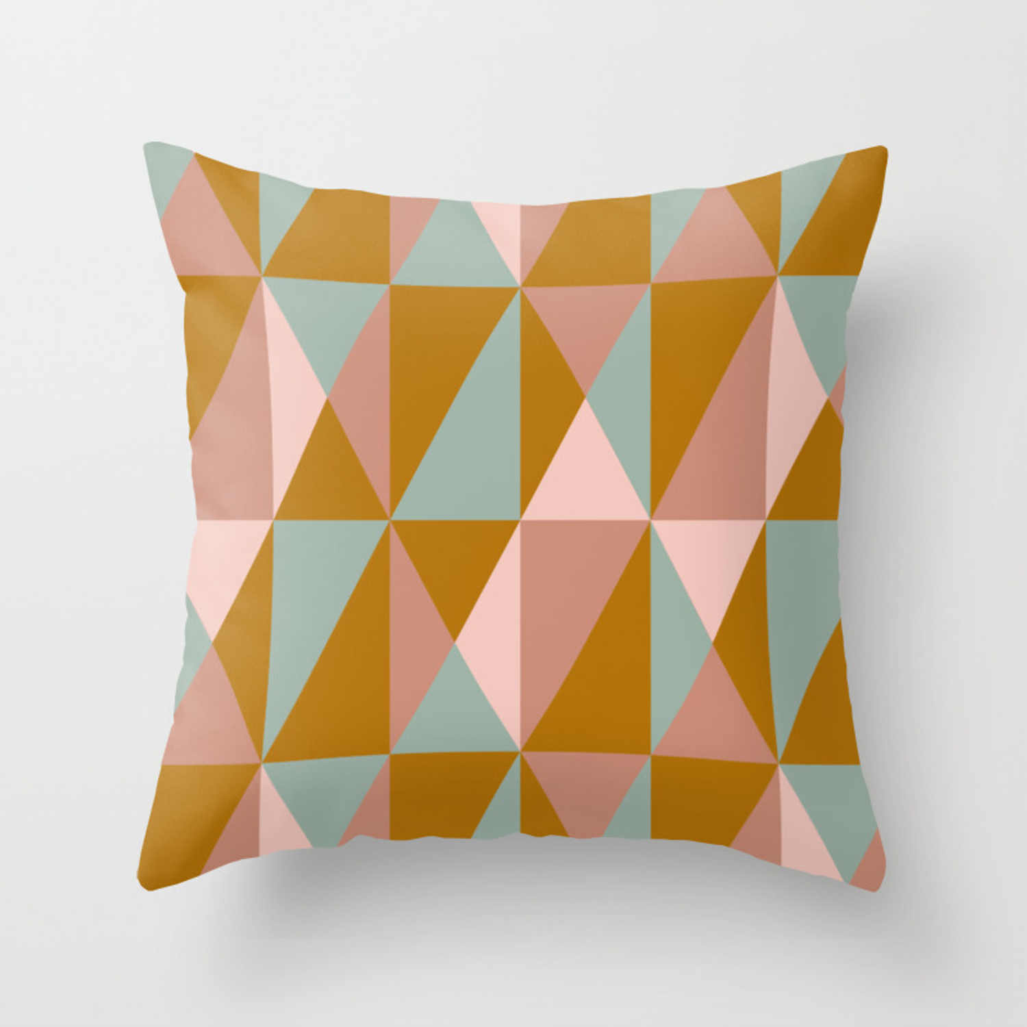 Earth Tone Throw Pillows.Modern Triangle Quilt Design In Subdued Earth Tones Throw Pillow