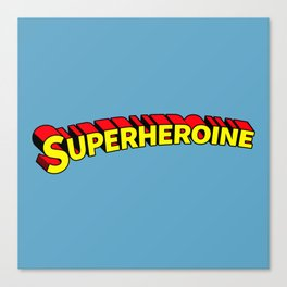 Superheroine Canvas Print