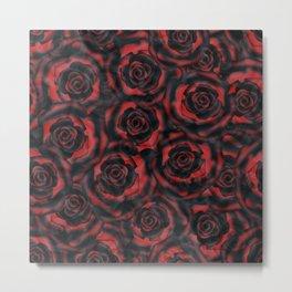 Black roses . Metal Print