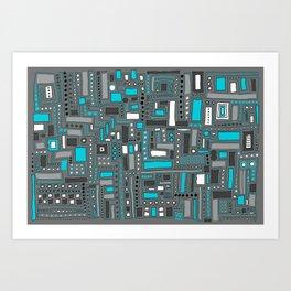 Turquoise Dream (Pattern) Art Print