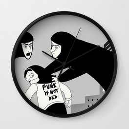 Punk is Not Ded! Wall Clock
