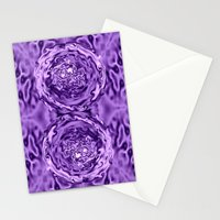 Purple Swirl Topography Stationery Cards