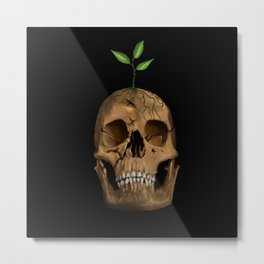 Life from Death Metal Print