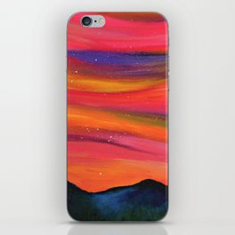 TWILIGHT SKY OVER MOURNE MOUNTAINS - Abstract Sky Oil Painting iPhone Skin