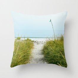 Beach Path to the Sea Throw Pillow