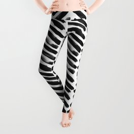 Simple black and white handrawn chevron - horizontal -  #Society6 Leggings