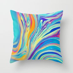 rainbow swirl Throw Pillow