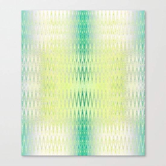 Textile-aqua & lemon Canvas Print