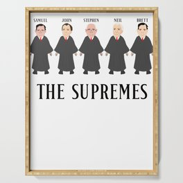 THE SUPREMES Supreme Court Justices Serving Tray