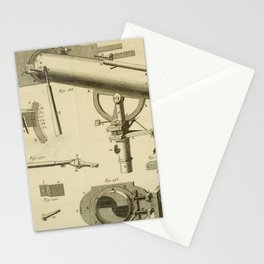 Jérôme Lalande's Astronomie (1771) - Telescope Apparatus 5 Stationery Cards