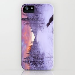 I - Sunrise over a river in winter near Levi, Finnish Lapland iPhone Case