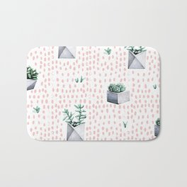 Cactus Pattern 01 Bath Mat
