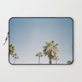 Palmtrees in Barcelona Europe | Blue Sky, Green Palm Trees Tropical vibe Laptop Sleeve