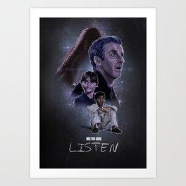 Doctor Who: Listen Art Print