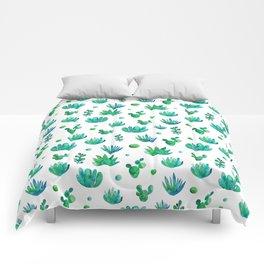 Watercolor Succulents Comforters