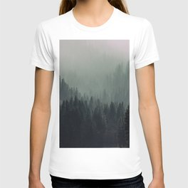 Mt Shasta Forest in Shades of Green T-shirt