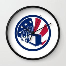 American Logistics USA Flag Icon Wall Clock