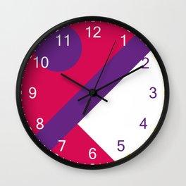 Fox Face Salmon Wall Clock
