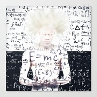 einstein Canvas Prints featuring einstein by Taranta Babu