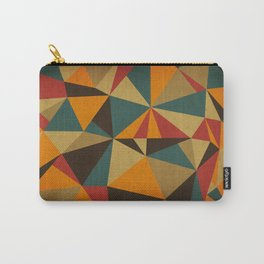 The Colorful Triangle Carry-All Pouch