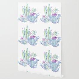 Mixed Cacti White #society6 #buyart Wallpaper