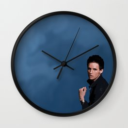 Eddie Redmayne 2 Wall Clock