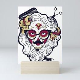 Halloween Lady Sugar Skull Mini Art Print